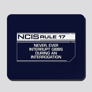 NCIS Rule #17 Mousepad