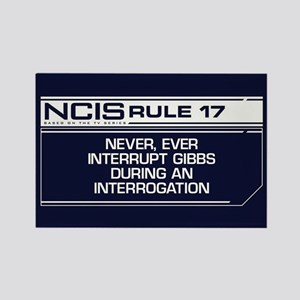 NCIS Rule #17 Rectangle Magnet