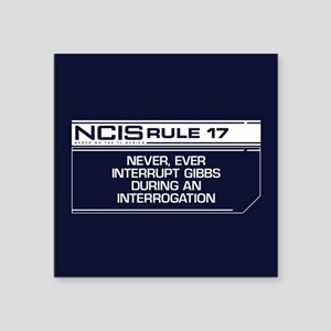 "NCIS Rule #17 Square Sticker 3"" x 3"""