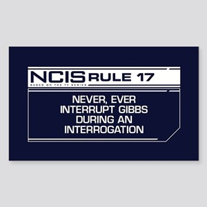 NCIS Rule #17 Sticker (Rectangle)