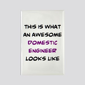 awesome domestic engineer Rectangle Magnet