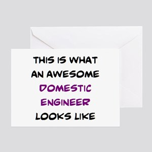 awesome domestic engineer Greeting Card