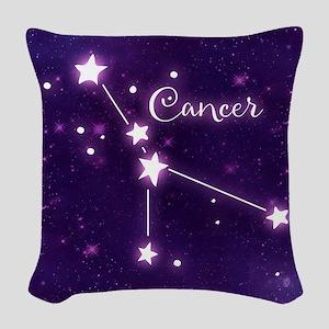 Cancer Zodiac Constellation Woven Throw Pillow