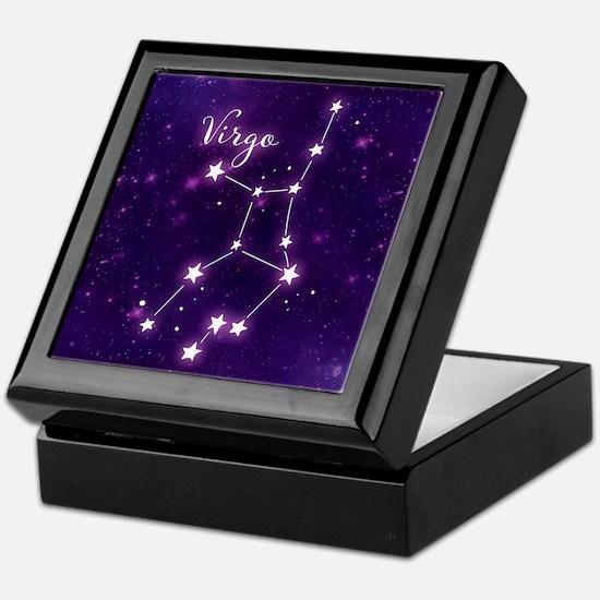 Virgo Zodiac Constellation Keepsake Box