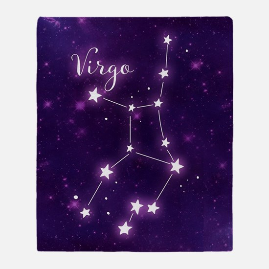 Virgo Zodiac Constellation Throw Blanket