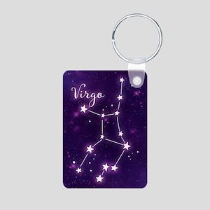 Virgo Zodiac Constellation Aluminum Photo Keychain