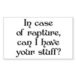 In case of rapture, can I hav Sticker (Rectangular