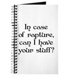 In case of rapture, can I hav Journal