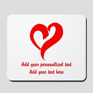 Red Heart Personalized Mousepad