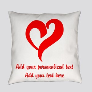 Red Heart Personalized Everyday Pillow