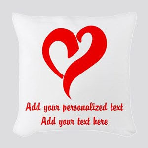 Red Heart Personalized Woven Throw Pillow