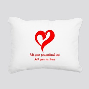 Red Heart Personalized Rectangular Canvas Pillow