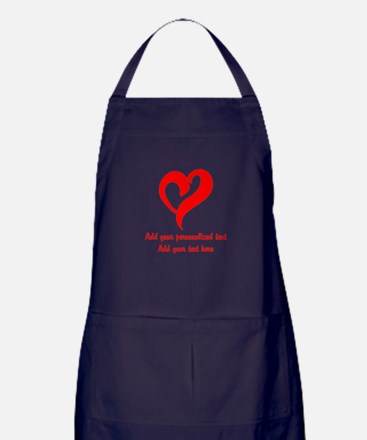 Red Heart Personalized Apron (dark)