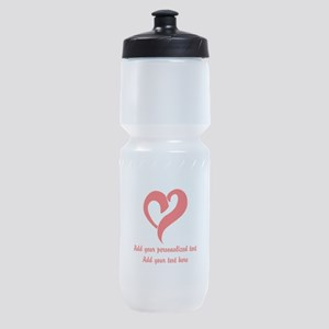 Red Heart Personalized Sports Bottle