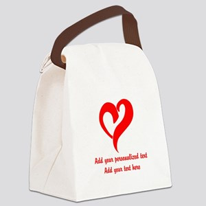 Red Heart Personalized Canvas Lunch Bag