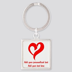 Red Heart Personalized Keychains