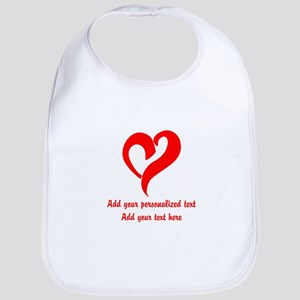 Red Heart Personalized Baby Bib