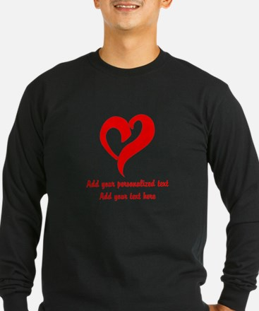 Red Heart Personalized Long Sleeve T-Shirt