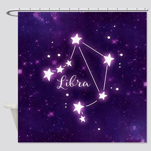 Libra Zodiac Constellation Shower Curtain