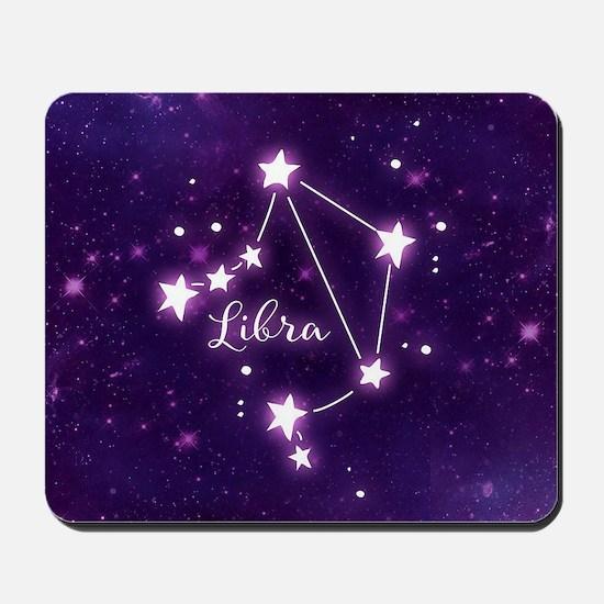 Libra Zodiac Constellation Mousepad