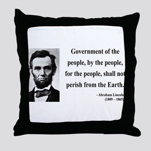 Abraham Lincoln 30 Throw Pillow