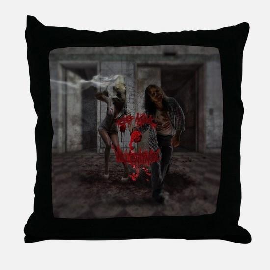 Unique Zombie valentine Throw Pillow