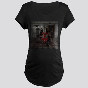 Valentines Day Zombie Couple Maternity T-Shirt