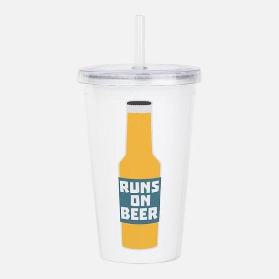 Runs on Beer Bottle Cc Acrylic Double-wall Tumbler