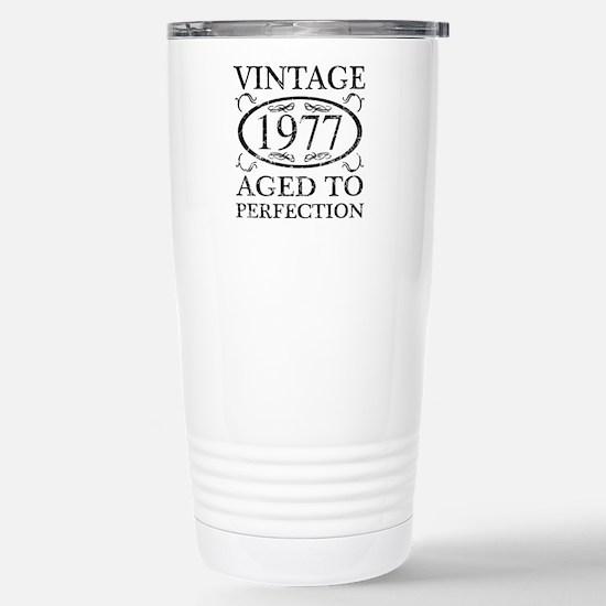 Vintage 1977 Stainless Steel Travel Mug