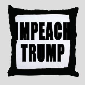IMPEACH TRUMP BOLD Throw Pillow