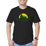 Shady pines logo fitted Fitted Dark T-Shirts