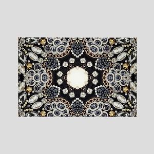 great gatsby black rhinestone Magnets