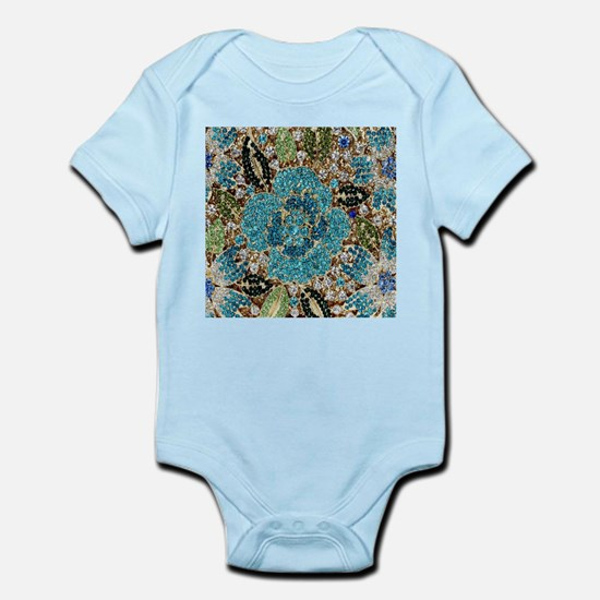 bohemian floral turquoise rhinestone Body Suit