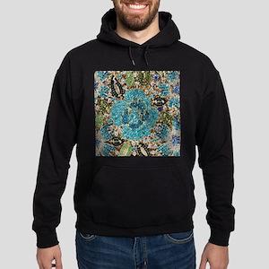 bohemian floral turquoise rhinestone Sweatshirt