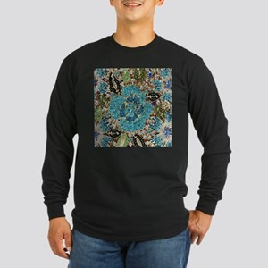 bohemian floral turquoise rhin Long Sleeve T-Shirt