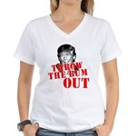 TRUMP: Throw the Bum Out Women's V-Neck T-Shirt