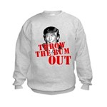 TRUMP: Throw the Bum Out Kids Sweatshirt