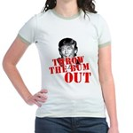 TRUMP: Throw the Bum Out Jr. Ringer T-Shirt