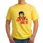 TRUMP: Throw the Bum Out Yellow T-Shirt