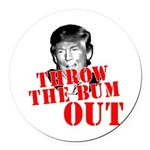 TRUMP: Throw the Bum Out Round Car Magnet