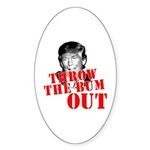 TRUMP: Throw the Bum Out Sticker (Oval 50 pk)
