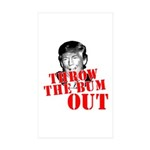 TRUMP: Throw the Bum Out Sticker (Rectangle 10 pk)