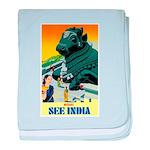 India Travel Advertising Print baby blanket