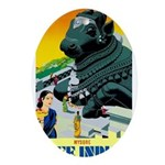 India Travel Advertising Print Oval Ornament