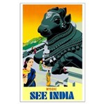 India Travel Advertising Print Poster