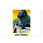 India Travel Advertising Print Postcards (Package
