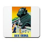 India Travel Advertising Print Mousepad