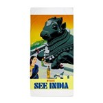 India Travel Advertising Print Beach Towel