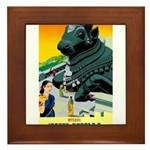 India Travel Advertising Print Framed Tile