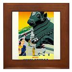 India Travel Advertising Print Framed Tile